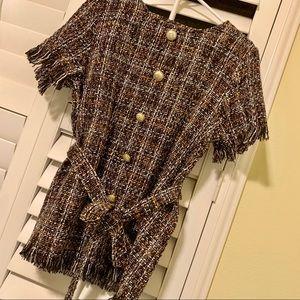 Tweed tunic dress